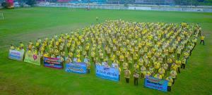 กลุ่มมวลชนกว่า 500 คนใน อ.วังน้ำเย็น จ.สระแก้ว แสดงพลังปกป้องสถาบัน