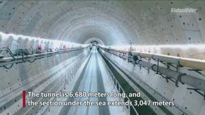(ชมคลิป) ความคืบหน้า 'อุโมงค์ลอดทะเล' ยาว 6.68 กม.ในซัวเถา เปิดใช้ปีหน้า