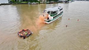 """กรมเจ้าท่าจัดชุดเฉพาะกิจตรวจความพร้อม """"ท่าเรือ-โป๊ะ"""" คุมเข้มความปลอดภัยลอยกระทง"""