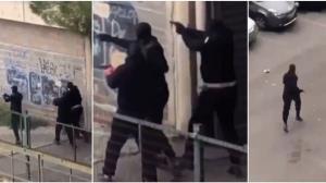 ยังกับดินแดนเถื่อน! คลิประทึก 2 แก๊งคู่อริดวลปืนสนั่นเมืองฝรั่งเศสกลางวันแสกๆ (ชมวิดีโอ)