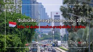 """""""อินโดนีเซีย"""" เศรษฐกิจถดถอยรอบ 22 ปี!! โควิด-19 พ่นพิษ ยอดป่วย-ตายพุ่งอันดับ 1 อาเซียน"""
