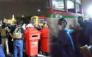 ม็อบดันรถเมล์เปิดทางวางตู้จดหมาย ส่งสาส์นถึงสถาบันเบื้องสูง