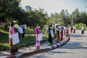 ฝ่ายค้านพม่าประท้วงไม่ยอมรับผลเลือกตั้งชี้ไม่ยุติธรรม ร้องจัดโหวตใหม่