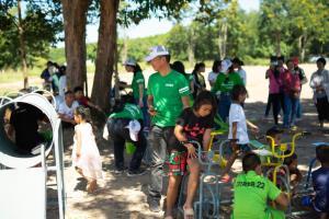 """ปูนอินทรี ออกค่ายอาสาโครงการโรงเรียนสีเขียว ปีที่ 11 ปรับปรุงพื้นที่  """"โรงเรียนตำรวจตระเวนชายแดนปูนอินทรี 50 ปี จ.อำนาจเจริญ"""""""
