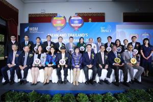 """ภาพ - ศ. ดร. บัณฑิต เอื้ออาภรณ์ อธิการบดี  จุฬาลงกรณ์มหาวิทยาลัย เป็นประธานในงานประกาศผลและมอบรางวัล """"ASEAN and Thailand's Top Corporate Brands 2020"""" ให้แก่สุดยอดแบรนด์องค์กรที่มีมูลค่า     แบรนด์องค์กรสูงสุดในแต่ละหมวดธุรกิจของไทย และแบรนด์องค์กรสูงสุดในอาเซียน จัดโดยคณะพาณิชยศาสตร์และการบัญชี จุฬาลงกรณ์มหาวิทยาลัย"""