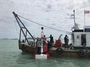 เจ้าท่าติดตั้งทุ่นไฟปากร่องน้ำคลองเกาะแก้ว ก่อนขุดลอกเมษายนนี้ ป้องกันอุบัติเหตุและยกระดับความปลอดภัยทางน้ำ