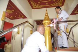 ในหลวง-พระราชินี ทรงประกอบพิธีเปิดศาลหลักเมืองพัทลุง จ.พัทลุง