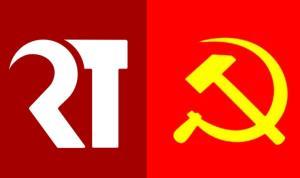 ภาพ เปรียบเทียบ โลโก ของกลุ่ม เยาวชนปลดแอก กับของ คอมมิวนิสต์ จากไทยโพสต์
