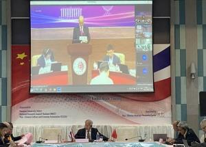"""การสัมมนาวิจัยยุทธศาสตร์ไทย-จีน ครั้งที่ 9 ในหัวข้อเรื่อง """"ความสัมพันธ์การทูตไทย-จีน 45 ปี: การแบ่งปันประสบการณ์และความร่วมมือในอนาคต"""" ในวันที่ 8ธ.ค.2563 ไทยเป็นเจ้าภาพจัดงานผ่านระบบออนไลน์เนื่องจากสถานการณ์โควิด-19"""