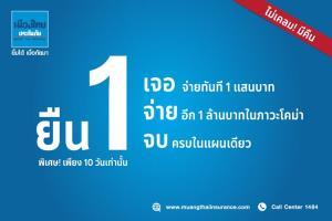 """เมืองไทยประกันภัย ยืน 1 """"เจอ จ่าย จบ"""" พบ COVID-19 จ่าย 1 แสน มอบความคุ้มครองสูงสุด 1 ล้านบาท โอกาสทองเพียง 10 วันเท่านั้น!!"""