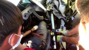 เกิดอุบัติเหตุรถชนกัน 4 คันรวด ตาย 3 บนถนนพหลโยธิน