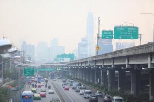 กทม.ฝุ่นพิษ PM 2.5 ปกคลุม 9 พื้นที่ฝั่งธนฯ