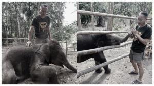 """ร่วมอาลัย! """"พ่อศรีของช้างน้อยทับเสลา"""" จนท.เขตรักษาพันธุ์สัตว์ป่าฯ หลังเสียชีวิตกะทันหัน"""