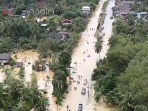 คืบหน้าน้ำท่วมยะลาบางพื้นที่ระดับน้ำลดลงหลังฝนหยุดตก และเขื่อนบางลางปรับลดการระบายน้ำ