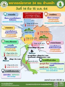 อุตุฯ เผยไทยตอนบนอุ่นขึ้น 1-3 องศา แต่ยังคงหนาวอยู่ กทม.อากาศเย็นต่ำสุด 16 องศา