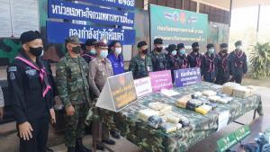 ทหารพราน 2108 ปะทะเดือดแก๊งค้ายาเสพติด ยึดยาบ้าล็อตใหญ่กว่า 264,000 เม็ด พร้อมไอซ์