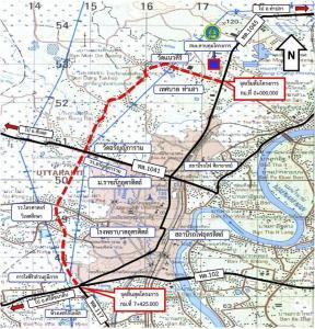 ทช.ผุดถนนผังเมืองอุตรดิตถ์ ยาว 7 กม.เสร็จปี 66 แก้จราจรตัวเมือง