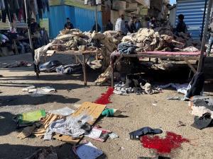 นาทีชีวิต! บึ้มฆ่าตัวตายครั้งรุนแรงหนแรกรอบ 3 ปีในอิรัก ตายเกลื่อน 32 ศพ (ชมคลิป)