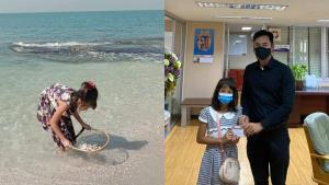 """ชีวิตใหม่เด็ก 10 ขวบ แม่จากไปด้วยโรคมะเร็ง """"นายกตุ้ย"""" รักเหมือนลูกสาวอีกคน ช่วยส่งเสียจนโต"""