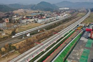 """""""ครั้งแรก""""...จีนสร้าง 'รถไฟความเร็วสูงร่วมทุนเอกชน' สายแรกของประเทศ"""