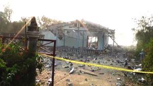 พบลอบเปิดโรงงานพลุก่อนเกิดบึ้มสนั่นสากเหล็ก ดับเพิ่มเป็น 5 ศพ-บ้านพังนับ 10 หลัง