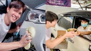 สาวกรี๊ด! บริการล้างรถไดรฟ์-ทรู ด้วยหนุ่มหล่อ พร้อมเสิร์ฟอาหารกินบนรถ