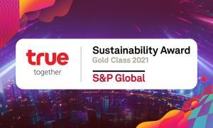 ทรู รับรางวัลความยั่งยืนโลกระดับ Gold Class 2021 ต่อเนื่องเป็นปีที่ 3