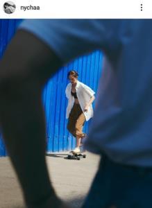 """""""ณิชา"""" กับชุดอวดหลังขาวเล่นสเก็ต เห็นแล้วรักเลย"""