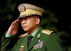 พล.อ.มิน อ่อง หล่าย ผู้บัญชาการทหารสูงสุดของเมียนมา