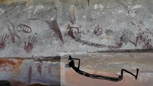 กลุ่มภาพเขียนสีโบราณที่ออสเตรเลียค้นพบ ซึ่งมีภาพจิงโจ้อายุเก่าแก่ที่สุดถึง 17,000 ปี รวมอยู่ด้วย