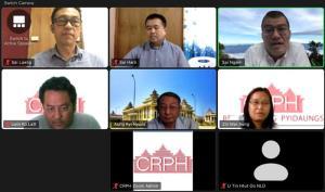 ตัวแทน กก.สันติภาพสภากอบกู้รัฐชาน ประชุมออนไลน์กับทีมตัวแทนสภา NLD