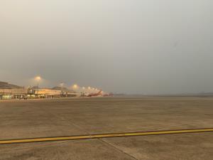 ท่าอากาศยานเชียงใหม่ยันชัดสถานการณ์ฝุ่นควันหนักคลุมทึบทั้งเมืองไร้ผลกระทบการบิน