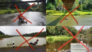 หนุ่มเตือนสายแคมป์! ห้ามนำเก้าอี้-สิ่งแปลกปลอมลงไปในลำน้ำ เหตุผิดกฎอุทยานแห่งชาติ