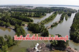 เปิดปฏิบัติการยึดคืนพื้นที่ป่าชายเลนกว่า 500 ไร่ จากกลุ่มนายทุนใน จ.จันทบุรี