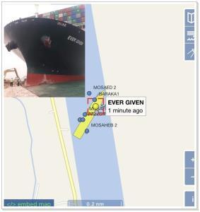 "In Clip : ลมกระโชกสุดโหดพัด ""เรือคาร์โกเดินสมุทร"" ขนาดกว่า 200,000 ตันปลิวเกยตื้นในคลองสุเอซ"