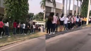 เผยคลิปหนุ่ม-สาวโรงงาน แห่สมัครงานนิคมอุตสาหกรรมนวนคร รอต่อแถวยาวกว่า 3 กิโลเมตร (ชมคลิป)