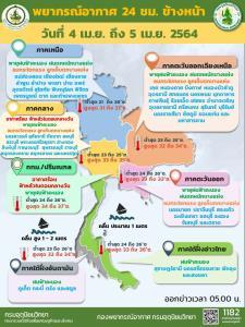 กรมอุตุฯ เผยทั่วไทยชุ่มฉ่ำ ฝนฟ้าคะนอง 30-60% ของพื้นที่ เตือนเฝ้าระวังพายุฤดูร้อนถล่ม-ลูกเห็บตก