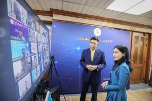 """รมช.แรงงานถือฤกษ์ปีใหม่ไทย จัด""""ซิมแรงงาน""""ให้ฝึกอาชีพออนไลน์"""