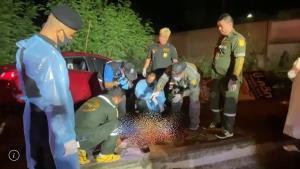 ฆ่ากลางเมืองลพบุรี! หนุ่มพัทลุงถูกยิงทะลุกระจกรถปีนฟุตปาธเสียชีวิตริมถนน