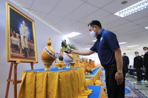 """""""อนุทิน"""" นำ """"ภูมิใจไทย"""" ทำบุญใหญ่ เข้าสู่ปีที่ 13 ประกาศเดินหน้าแก้ปัญหาปากท้องประชาชน มุ่งทำนโยบายเลือกตั้งให้สำเร็จ"""
