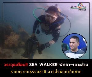 วราวุธเตือน Sea Walker พัทยา– เกาะล้าน หากกระทบธรรมชาติอาจสั่งหยุดเด็ดขาด
