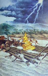เปิดตำนาน ๓ พระพุทธรูปลอยน้ำ ข้ามโขงมาไทย! องค์หนึ่งแหกแพ ไทยแอบงมมาแล้วเงียบ!!