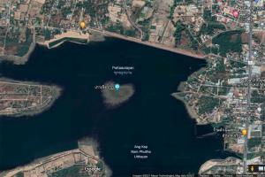 ภาพเกาะจิตรกูฎรูปทรงหัวใจ จาก Google Map
