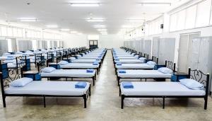 พร้อมแล้ว! สอ.รฝ.สัตหีบเตรียม รพ.สนามขนาด 320 เตียง รองรับผู้ป่วยโควิด-19 ระลอก 3