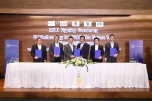 """""""เอเชีย แค็บ"""" ผนึกกำลัง 4 พันธมิตรยักษ์ใหญ่ พัฒนา """"CABB EV"""" รถแท็กซี่ไฟฟ้าสัญชาติไทยคันแรก"""