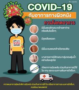 COVID-19 กับอาการทางผิวหนัง