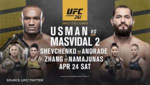 UFC 261 เปิดให้คนเข้าชมเต็มสนาม! / ลักษมณ์ นันทิวัชรินทร์