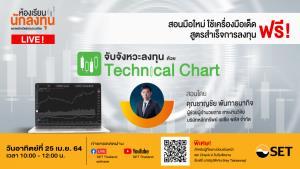 """ห้องเรียนนักลงทุน Live! เดือนเมษายนนี้ ชวนมือใหม่ """"จับจังหวะลงทุนด้วย Technical Chart"""""""