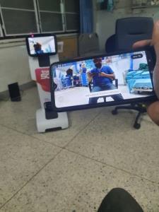 มข.นำหุ่นยนต์ Temi หนุนบุคลากรทางการแพทย์โรงพยาบาลศรีนครินทร์สู้ภัยโควิด