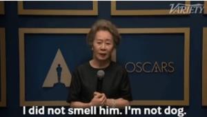 """""""ยุนยูจอง"""" ฟาดกลับจุกๆหลังเจอสื่อถามถึงกลิ่น """"แบรด พิตต์"""" บอก """"ฉันไม่ใช่หมา!"""""""